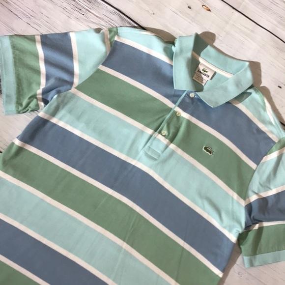 b21ff0d6 🌺Lacoste Men's Regular Fit Striped Cotton Polo